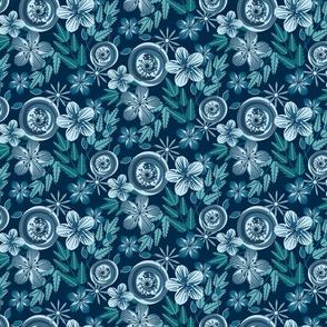 Blue June Floral