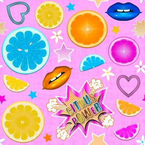 Pop Art Citrus  (Color 1 - Ultra Pink)
