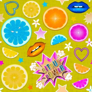 Pop Art Citrus (Color 1 - citron)