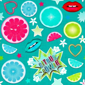 Pop Art Citrus (Color 2 - Light Sea Green)