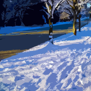 Snow Scene Paint by Numbers