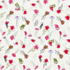 Brush flowers_vanilla cream