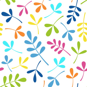 Assorted Leaves Large Pattern Multicolored