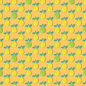 Lemon Lime Pop Art on Orange