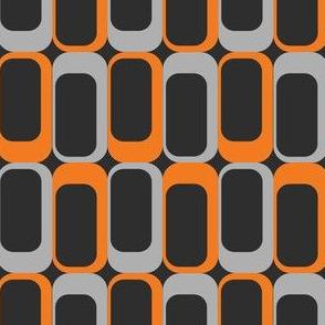 MCM Black & Orange Rectangles
