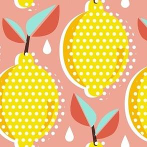 Lemon Fresh - Blush Large Scale Pop Art Summer Fruit