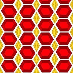 Garnet Gold Gemstone Jeweled Tile