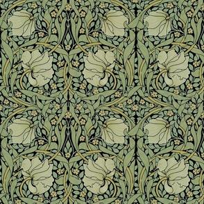 William Morris ~ Pimpernel ~ Original on Black ~ Medium