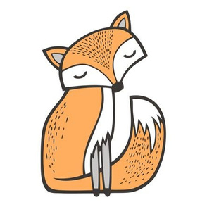 Dreamy Fox Pillow Plush Plushie Softie Cut & Sew 8 inch