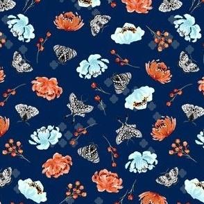 Moths in the Jar V05-Blue