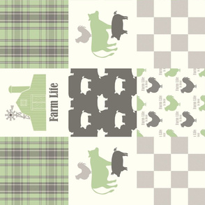 Farm Life Cheater Quilt green