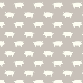 white pigs on lt taupe
