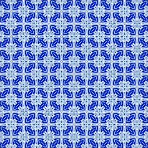 Blue and White Tiny All Over Tile Design 1x1-02-150dpi
