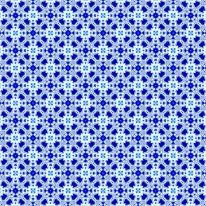 Blue and White Tiny All Over Tile Design 1x1-03-150dpi