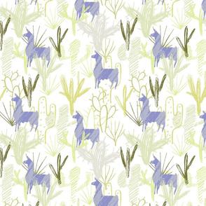 Cactus Llamas ~ Blue
