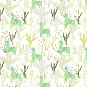 Cactus Llamas ~ Green
