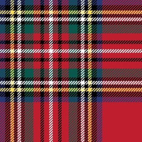 "LG royal stewart tartan style 1 with 8"" repeat - perfect for christmas"