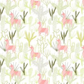 Cactus Llamas ~ Pink