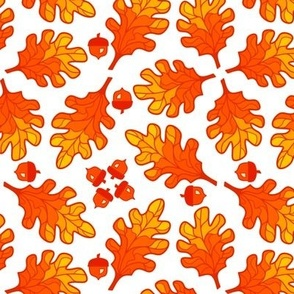 Acorns and Oak Leaves Fall Vegetation Tile