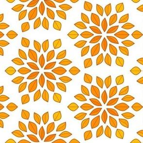 Autumn Brown Leaf Circular Gradient Vegetation Tile
