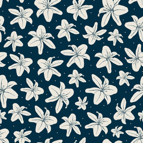 Night Lilies - bigger