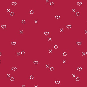 xoxo love sweet hearts and kisses minimal valentine print for lovers wedding hot red girls