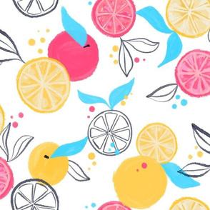 Citrus Pop - Bright, fun citrus fruits