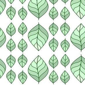 Mint Leaf Vintage Scheme Vegetation Tile