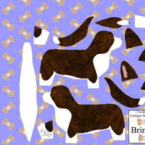 ©2012 Cut & Sew large Cardigan Welsh Corgi - Brindle