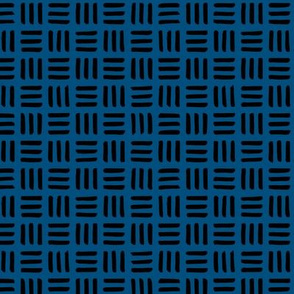 Little abstract mudcloth minimal checkered plaid design Scandinavian style classic blue