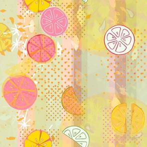 Pink Citrus Waterfall -- Modern Decor