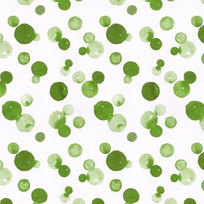 Dragon fire dots coordinate green