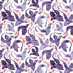 Dragon fire purple small