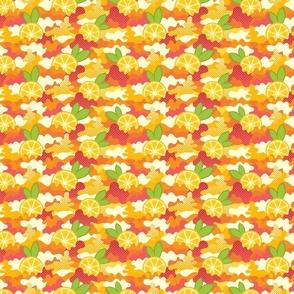 Citrus Pop Art Cameo Pattern