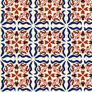 Spanish Tiles: Los cuadrados son círculos-Multi [Large  scale]