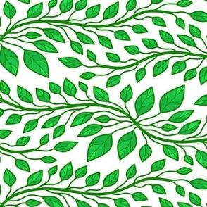 Green Vines Vegetation Tile