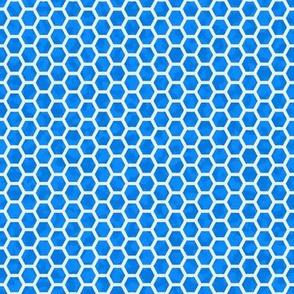 honeycomb white on blue