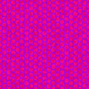 honeycomb purple on pink