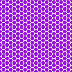 Honeycomb white on purple