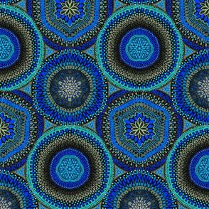Kaleidoscope Medallions Blue
