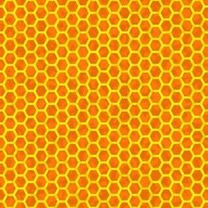 honeycomb yellow on orange