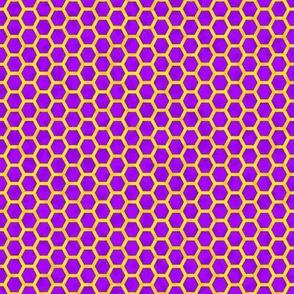 honeycomb yellow on purple