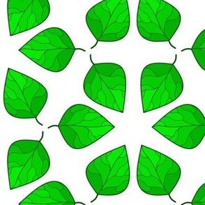 Summer Leaf Vegetation Tile