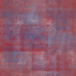 Overlapping Red Blocks abstract by Kimberhew