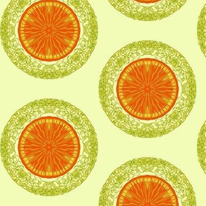 Zesty Slices of Tangerine on a Whisper of Citrus - Large Scale
