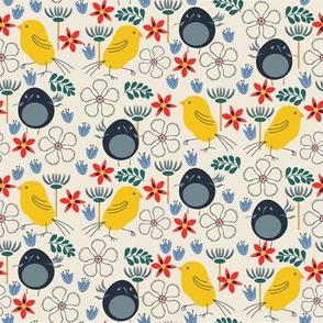 Bird Frolic Floral