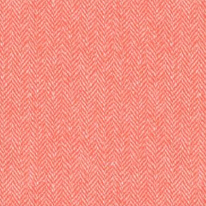 faux tweedy coral herringbone tweed #8