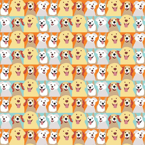 Small Happy Smiling Doggies
