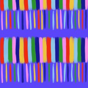 rainbow stripe with blue background