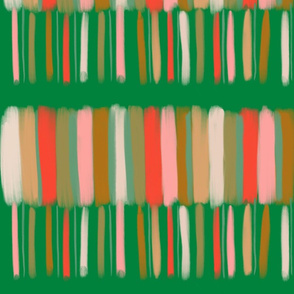 muted stripes with green
